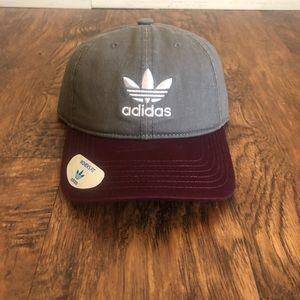 BRAND NEW Burgundy & Grey Adidas Baseball Cap